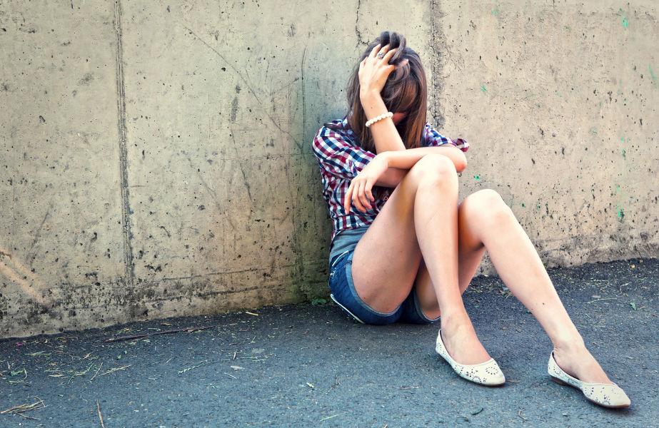 Depressives Mädchen