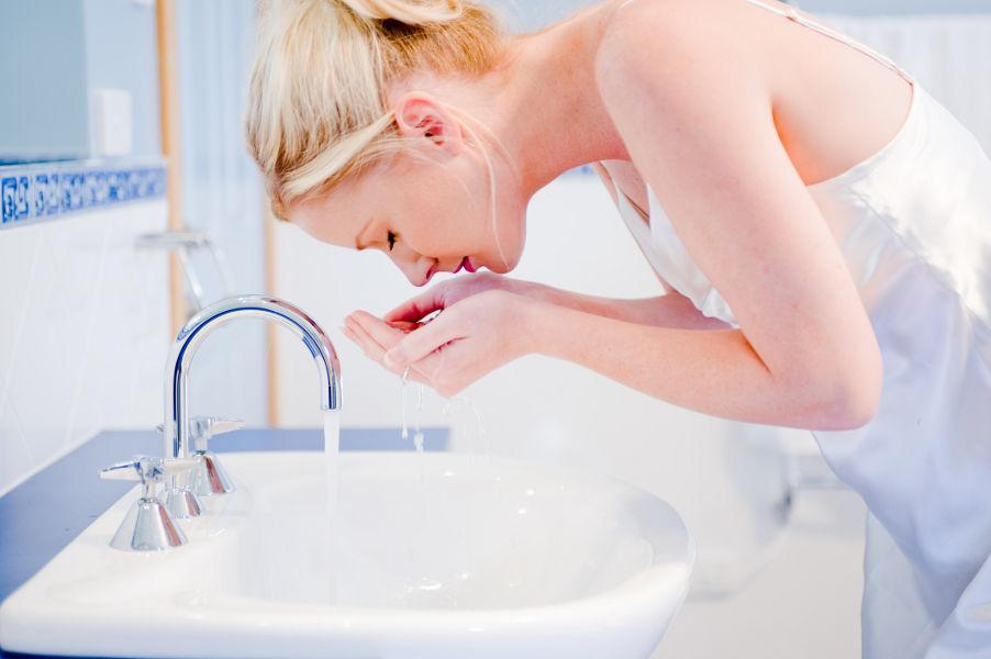 Gesicht waschen