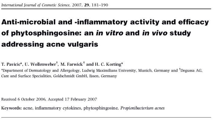 Phytosphingosin Studie acne vulgaris